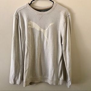 Beige puma sweatshirt
